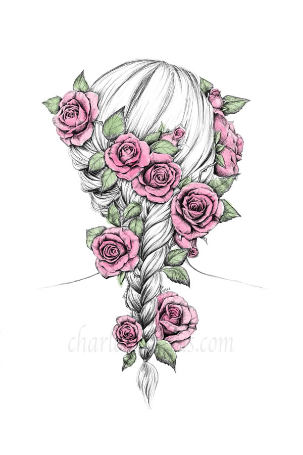 rosy braid colored